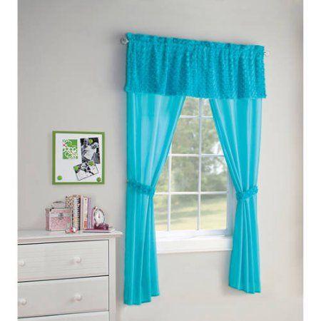 Lush Decor Leah Room Darkening Window Curtain Set Walmart Com