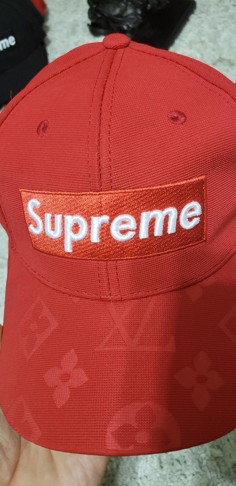 SUPREME HOLOGRAPHIC CAMP CAP RED SS19 2019 HAT BLACK YELLOW WHITE BOX LOGO CDG