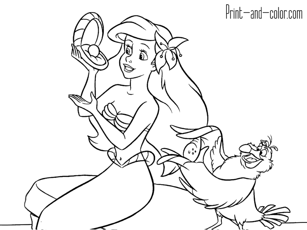 The Little Mermaid Coloring Pages With Images