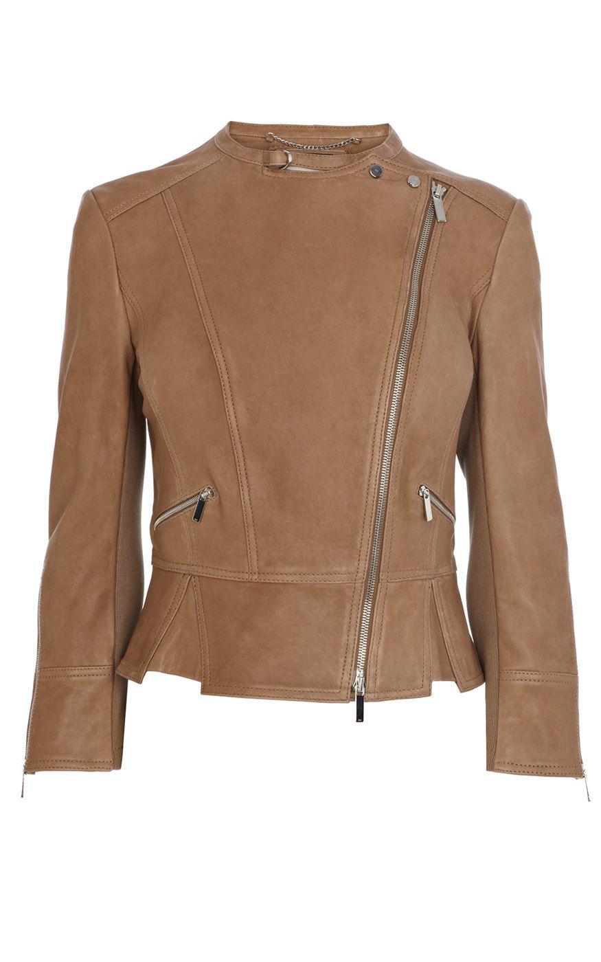 I do want a caramel leather jacket. I like the moto feel ...