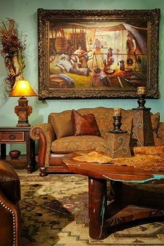 Western Living Room Http Thearrangement Com This Page Doesn T Open For Me But Boy What Western Living Rooms Southwestern Home Decor Western Paint Colors