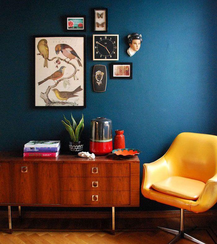 Déco salon bleu canard, paon, pétrole – du goudron et des plumes