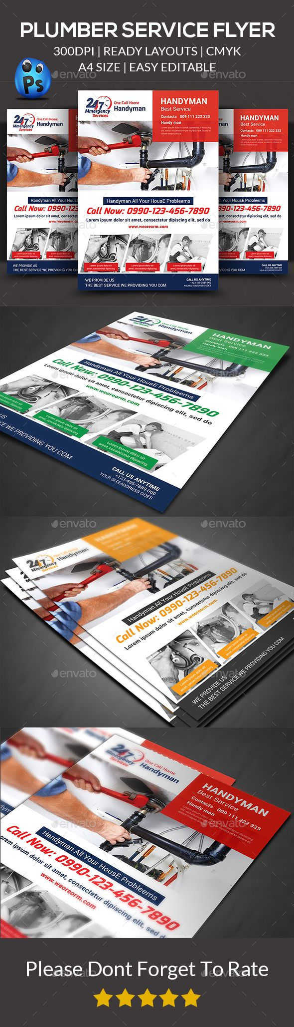 Plumber Service Flyer Templates  Flyer Template Template And