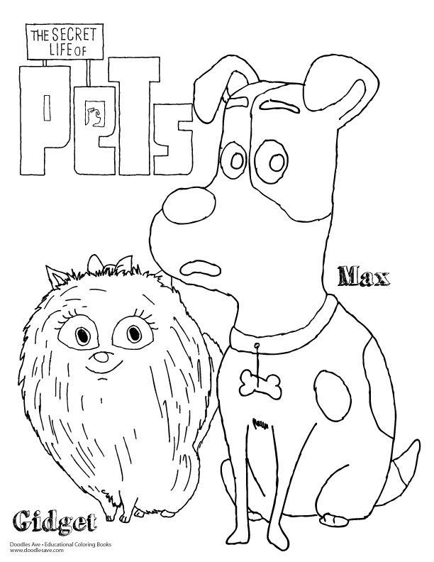 Doodles Ave Secret Lives Of Pets Max Gidget Pet Max Cartoon