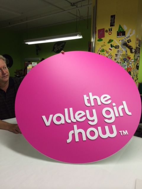 Check out the sign for the new #ValleyGirlShow set!  #JesseDraper #WomenInBusiness