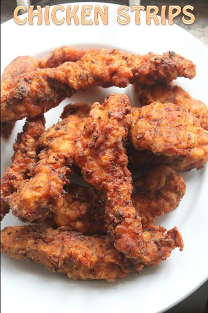 YUMMY TUMMY: Spicy Chicken Strips Recipe - Fried Chicken Tenders Recipe