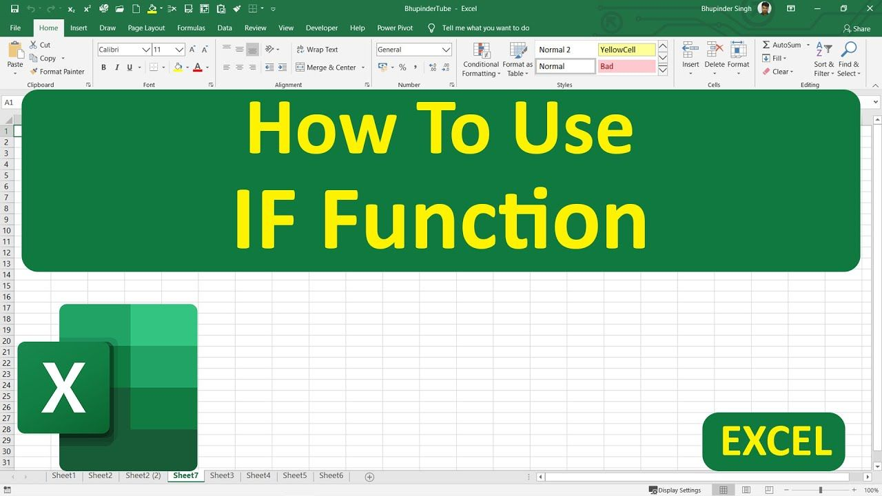 How To Use If Function In Excel In 2020 Excel Microsoft Excel How To Remove