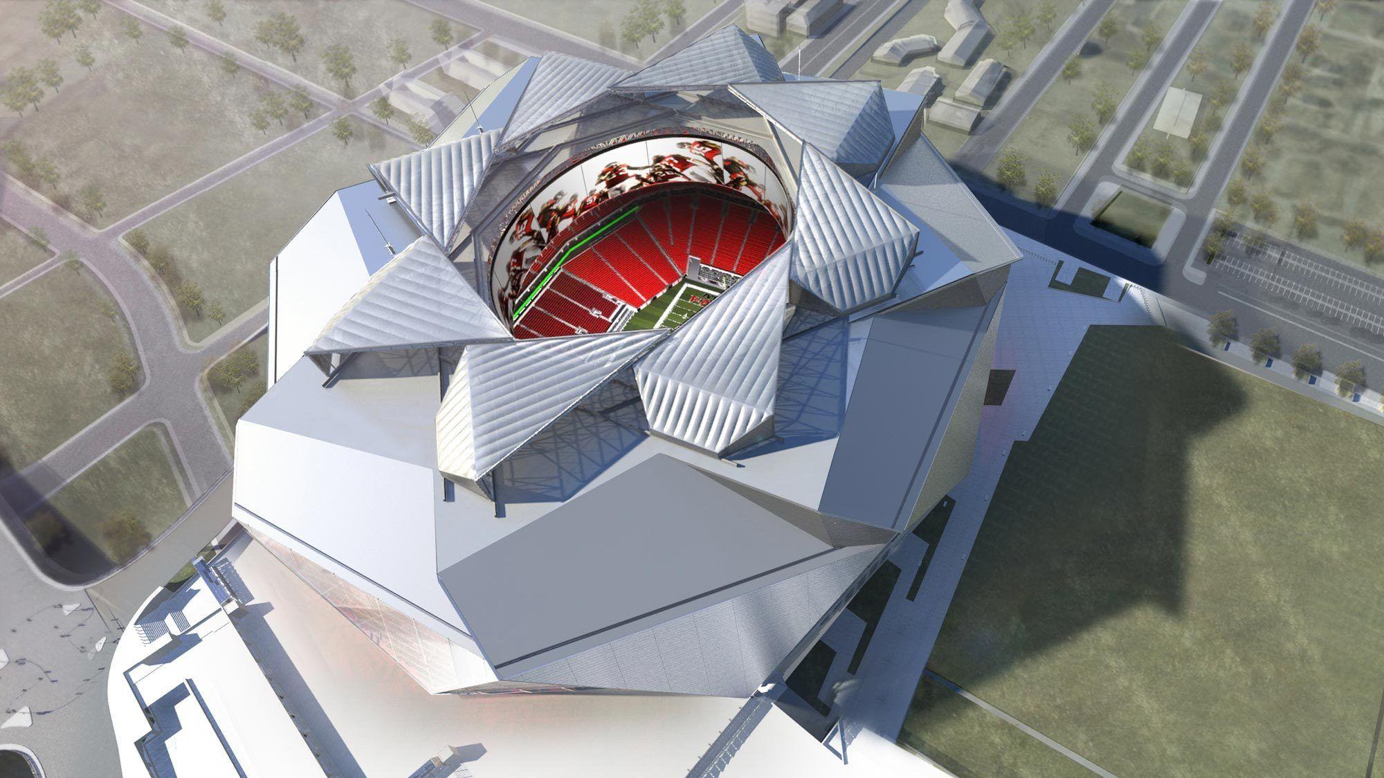 Galería - La cubierta retráctil diseñada por 360 Architecture para el nuevo Estadio de Atlanta - 1