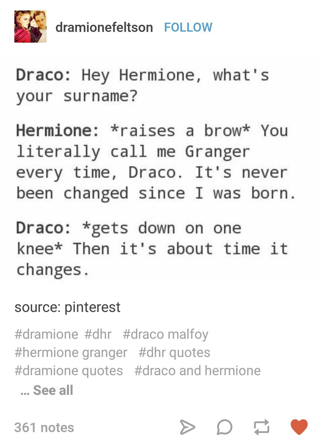 I Don T Even Ship Them But This Is Awesome Harry Potter Draco Malfoy Harry Potter Puns Harry Potter Funny