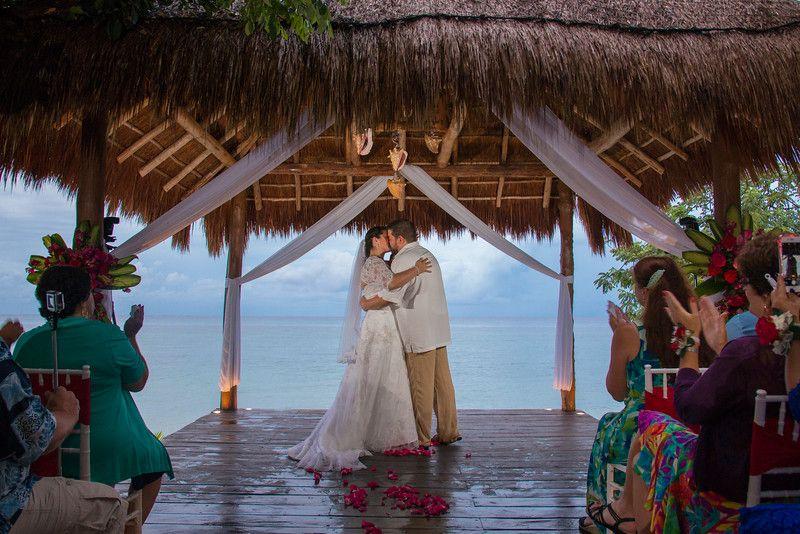 "Say ""I do"" in a magnificent wedding gazebo or on a private beach. @secretsresorts #Cozumel"