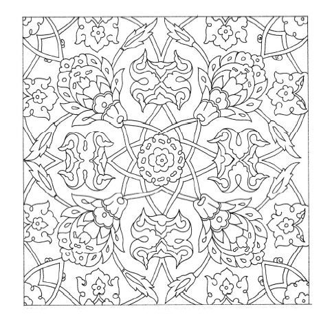 Ottoman Pattern Adult Coloring Pages
