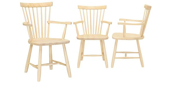 Lilla Åland, dining chair with arm rests, by Carl Malmsten / Stolab.