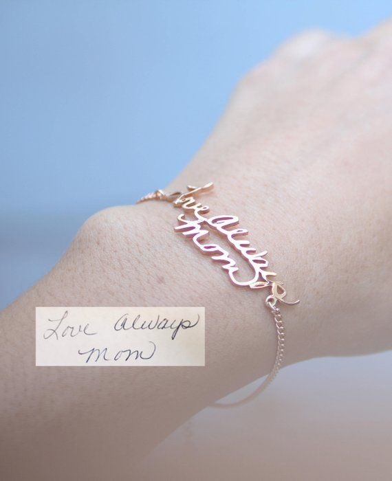 0bd0b5eccc79c Handwriting Bracelet • Custom Actual Handwriting Jewelry • Signature ...