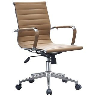 Shop For 2xhome  Modern Leather Office Chairs Ribbed Manager Boss Task Tan.  Get Free Shipping At Overstock.com   Your Online Furniture Outlet Storeu2026