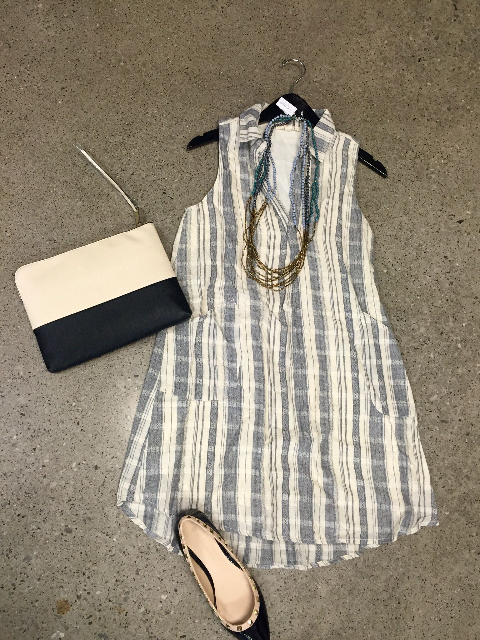 Grey Print Dress