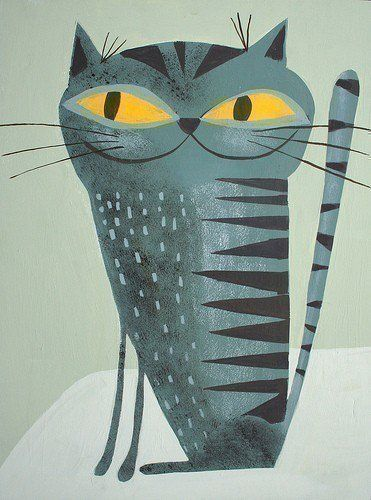 Krasner Kitty 85x11 print by Matte Stephens by matteart on Etsy