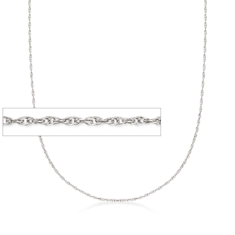 Ross Simons 1mm 14kt White Gold Rope Chain Necklace Chain Necklace Gold Rope Chains Rope Chain