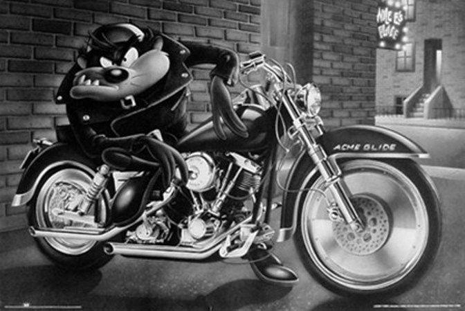 Biker Stuff Looney Tunes Looney Tunes Cartoons Biker Art Looney Tunes