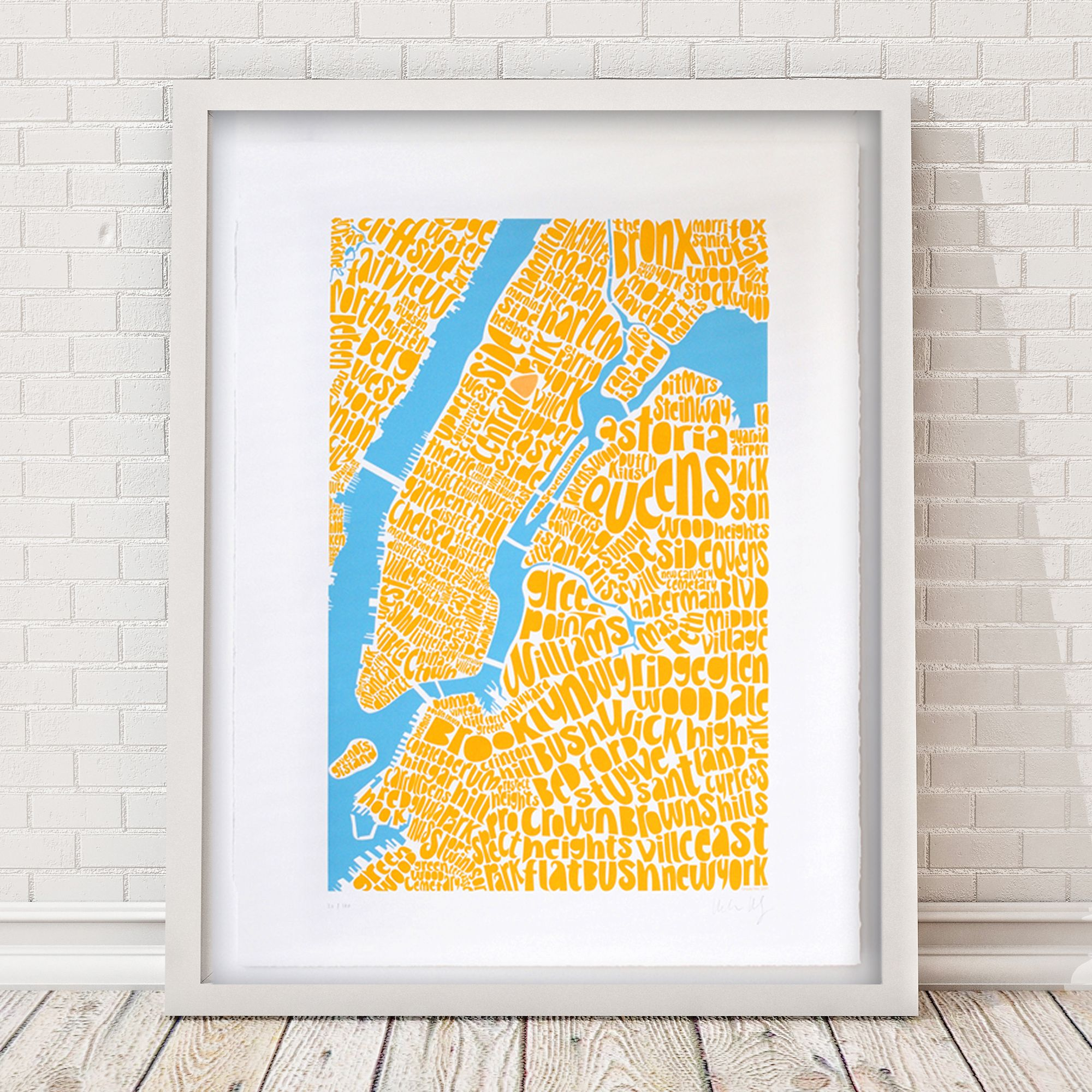 Map of NYC  limited edition screen print  http://www.ursulahitz.com