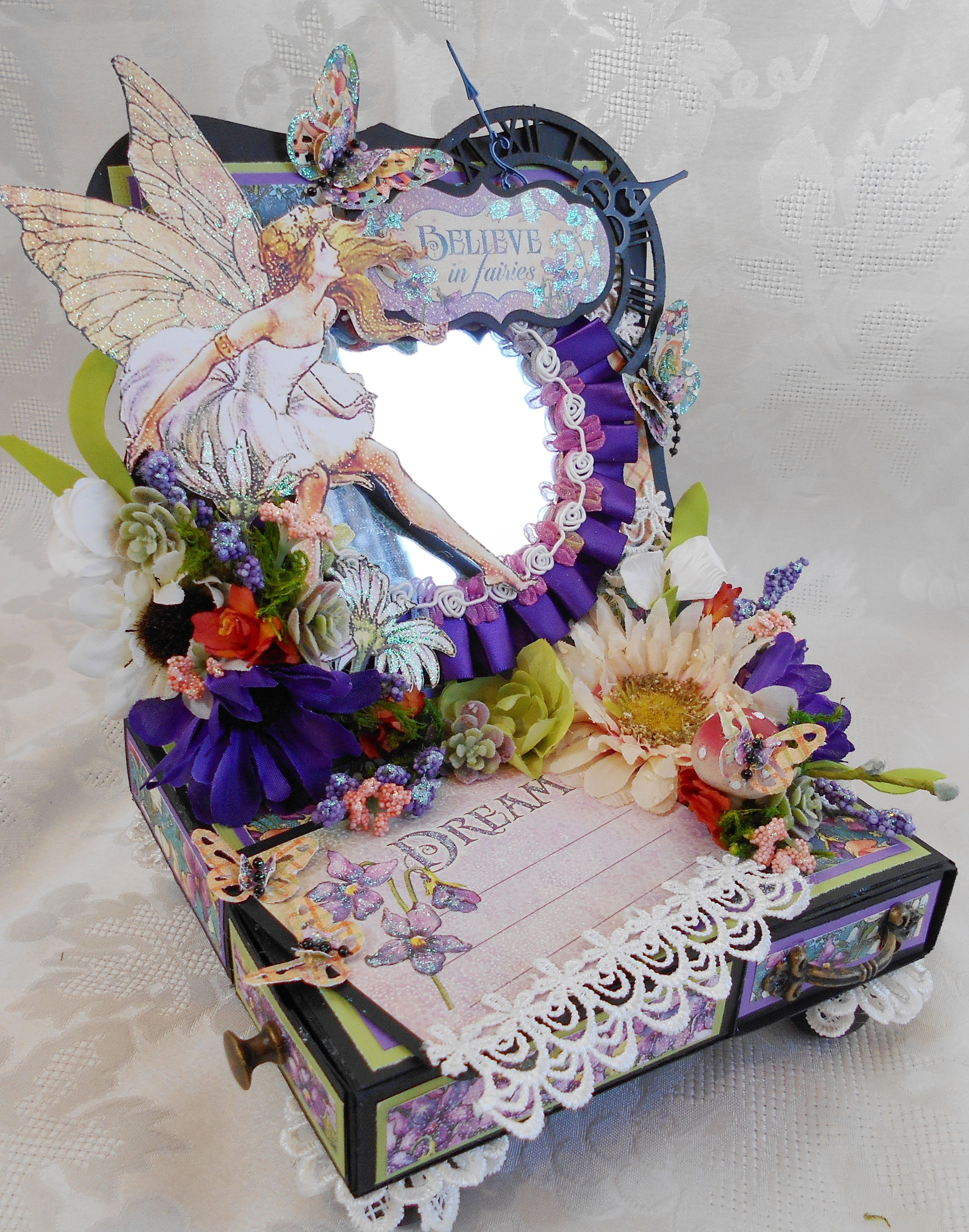 Pin By Scrapbook Fashionista Designs By Rina On Rina S Other Cards Easel Cards Beautiful Fairies Dust Collection