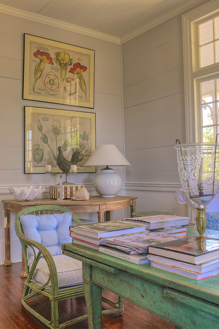 Furlow Gatewood Southern Art Botanical Prints Love The Botanicals And Color Of Table For Books