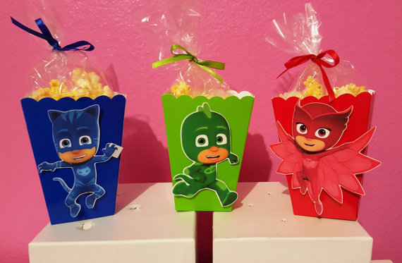 PJ Masks Snack Boxes - Set of 10 in 2018 | Centerpiece ...