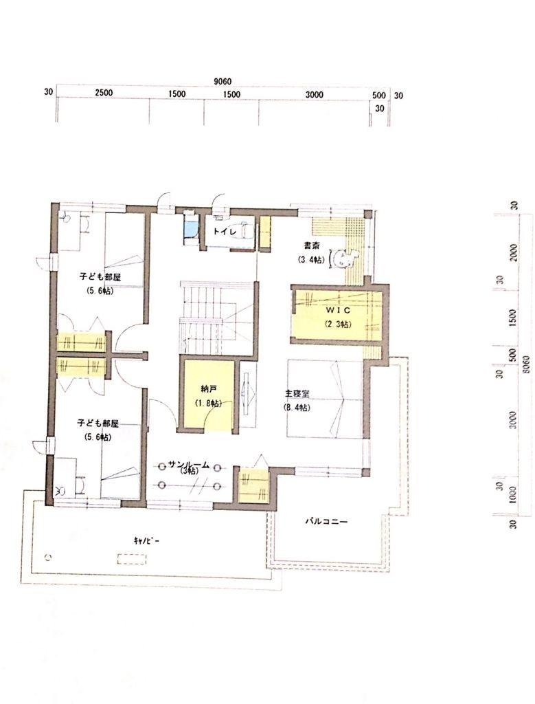 積水ハウス40坪間取り2階 | あ | pinterest | 40坪 間取り、積水ハウス