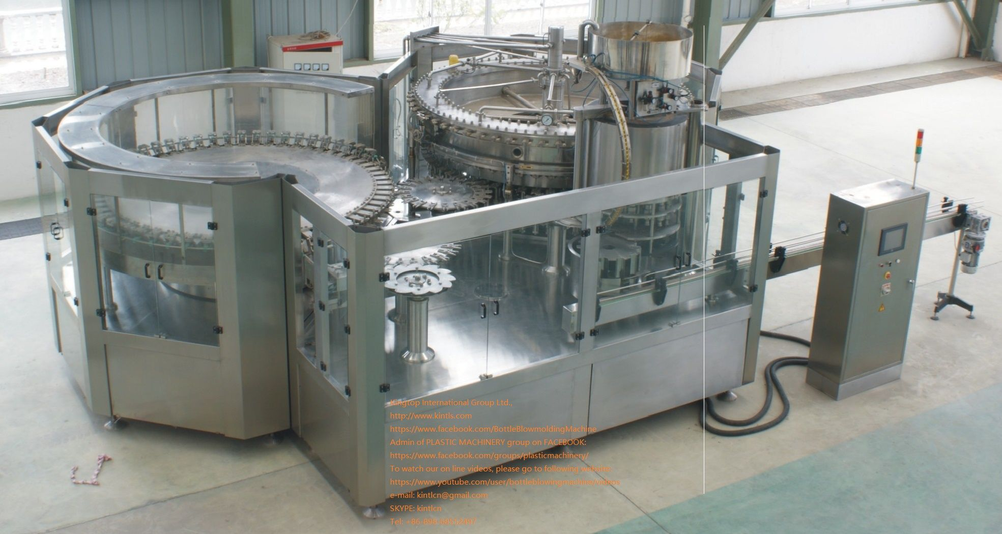 beverage bottling machine, Rinser / Filler / Capper Monobloc, 24000bph. KINGTOP INTERNATIONAL GROUP LTD
