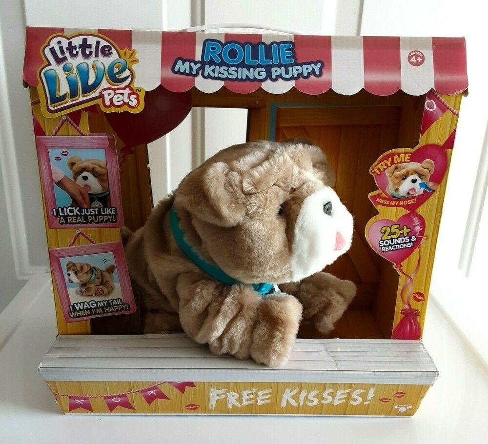 Little Live Pets Rollie My Kissing Puppy Nib Littlelivepets In 2020 Little Live Pets Pets Puppies