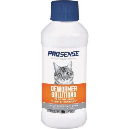 Pro Sense Liquid Dewormer Solutions For Cats 4 Ounce Multicolor