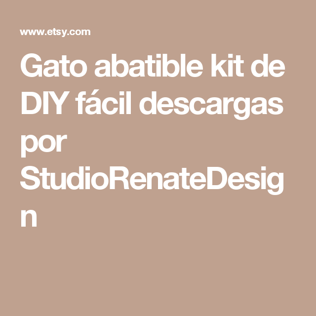 Gato abatible kit de DIY  fácil descargas  por StudioRenateDesign