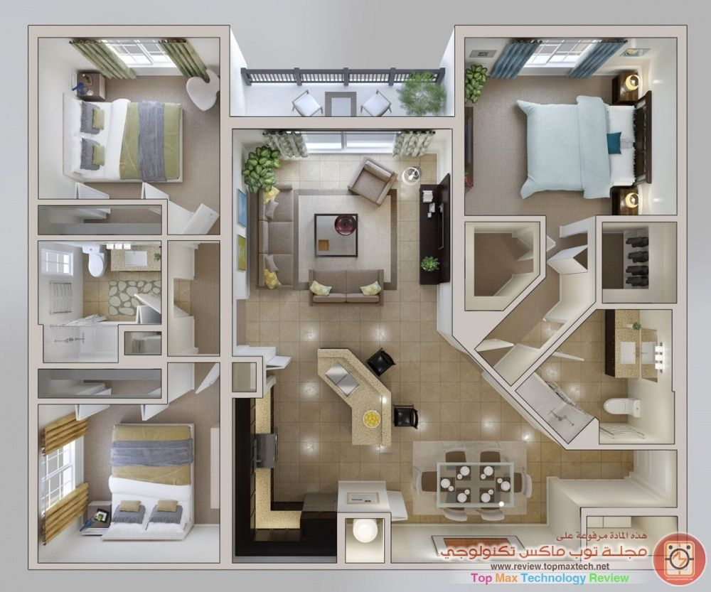 اجمل تصميم منزل صغير House Layout Plans House Layouts Modern House Plans