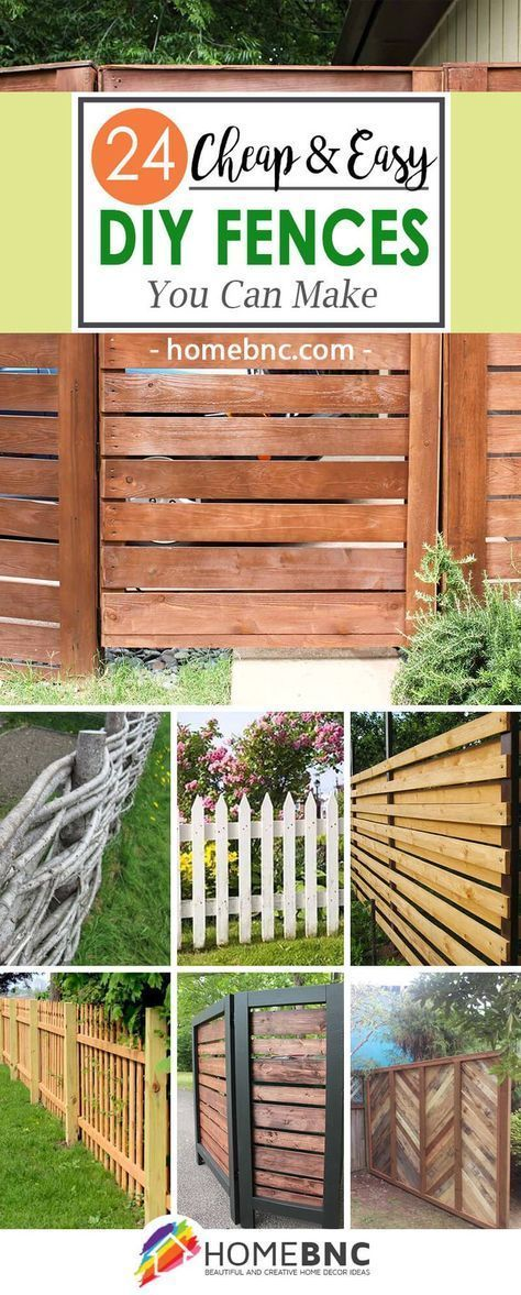 24 unique do it yourself fences that will define your yard on inexpensive way to build a wood privacy fence diy guide for 2020 id=96121