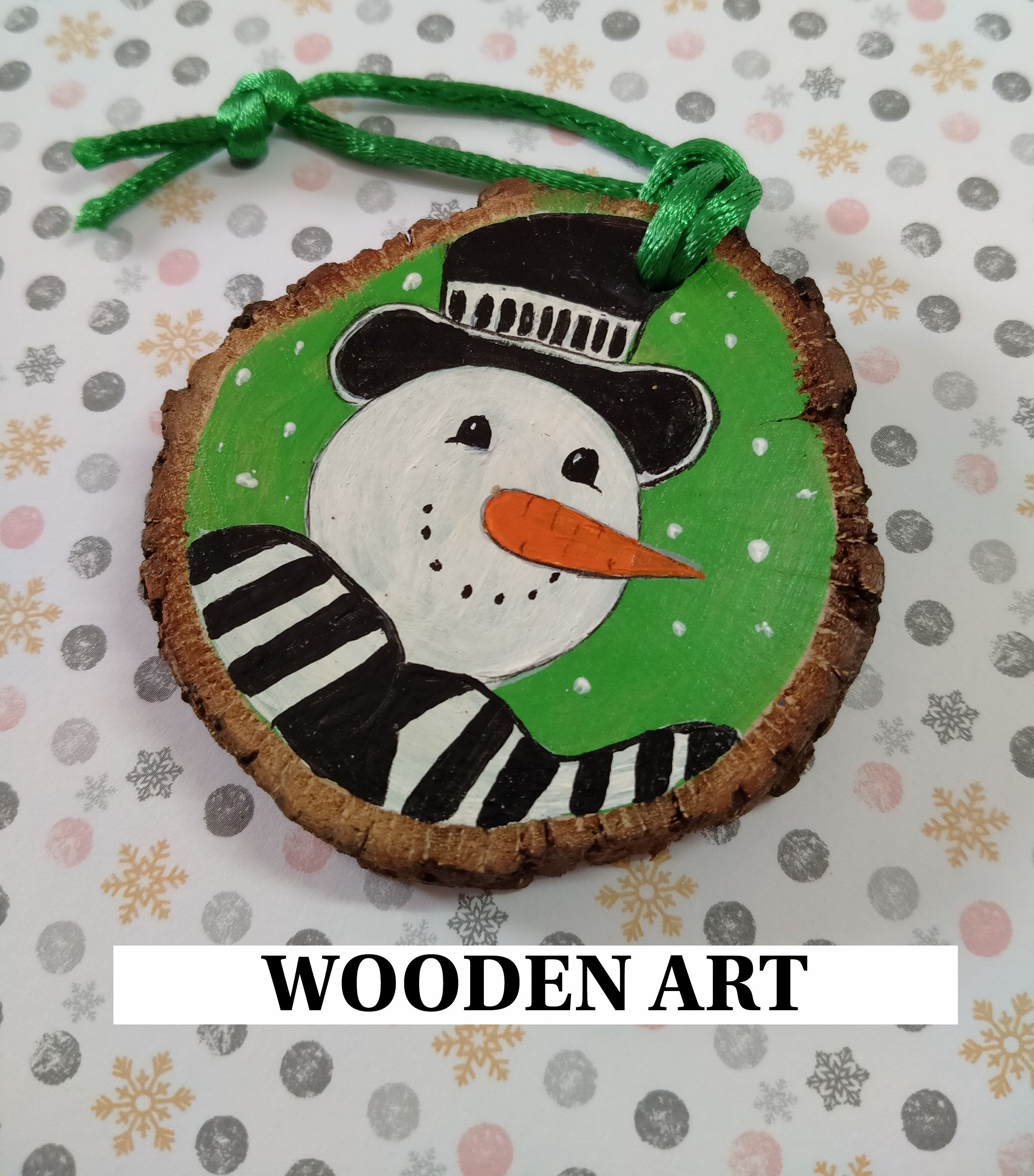 Smiling Snowman Wood Slice Christmas Decoration Hand Painted Etsy In 2021 Painted Christmas Ornaments Wooden Ornaments Diy Wood Slices