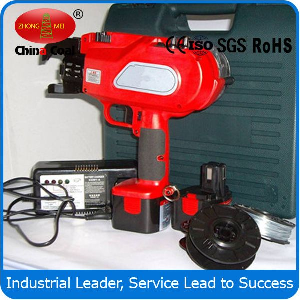 CHINACOAL03 New Type Steel Rebar Tying Machine Building Construction Equipment   steel Rebar tying machine, Rebar tying machine, Rebar tier  manual rebar tying tool,a hand held electrical tool,can tie rebar quickly and automaticaly.Powered by rechargeable battery it can be used alternatively and continuously.Tying can be completed by putting the jaw on the crossed rebars and pulling the trigger only.It saves labor and highly imporves working efficiency.