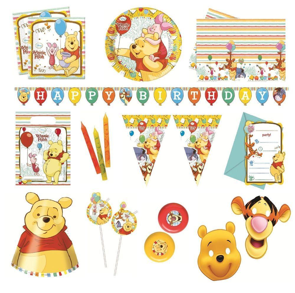 Disney WINNIE THE POOH SWEET TREATS Birthday Party Range Tableware /& Decorations