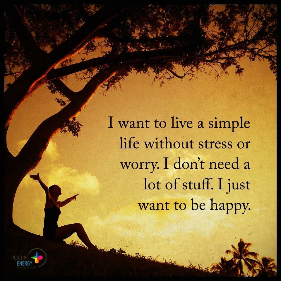 how to live a simple happy life