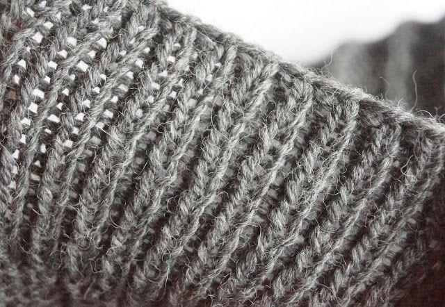 Julia Grau Design Bündchen Elastisch Abketten Stricken
