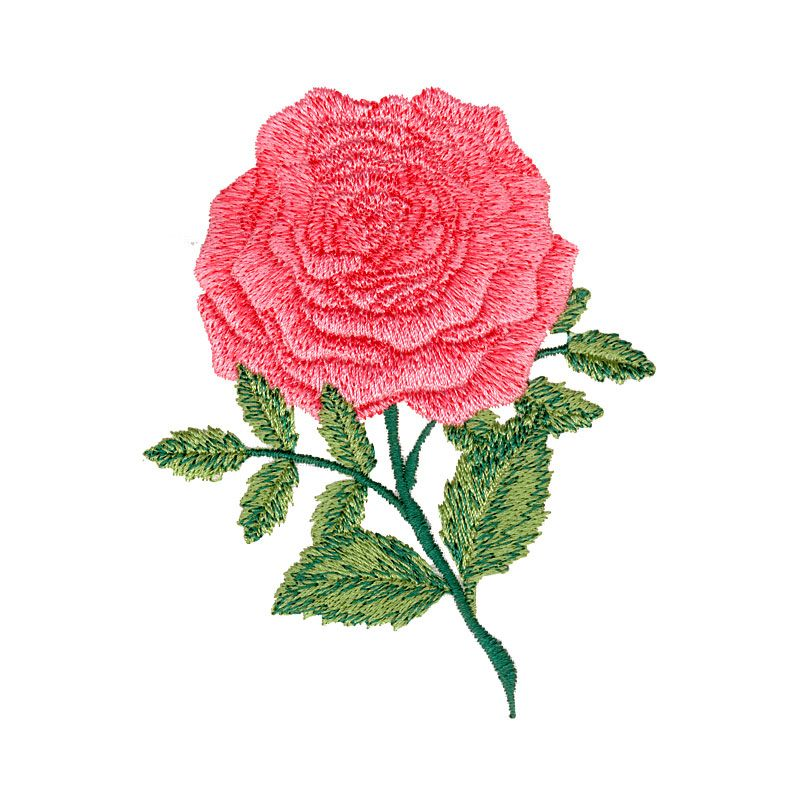 Free Embroidery Design: Rose | Machine embroidery | Pinterest
