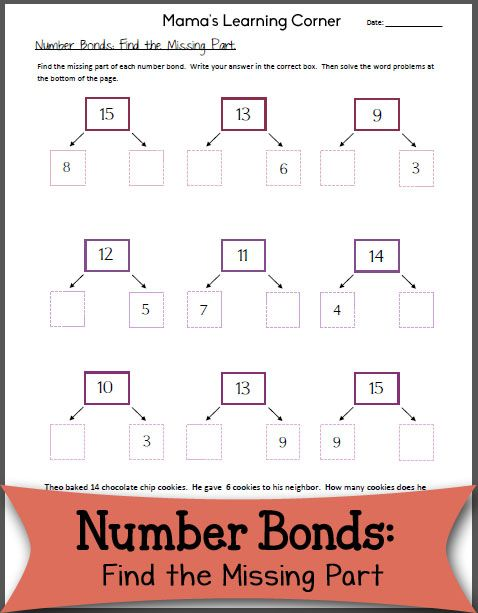 Number Bonds: Find the Missing Part