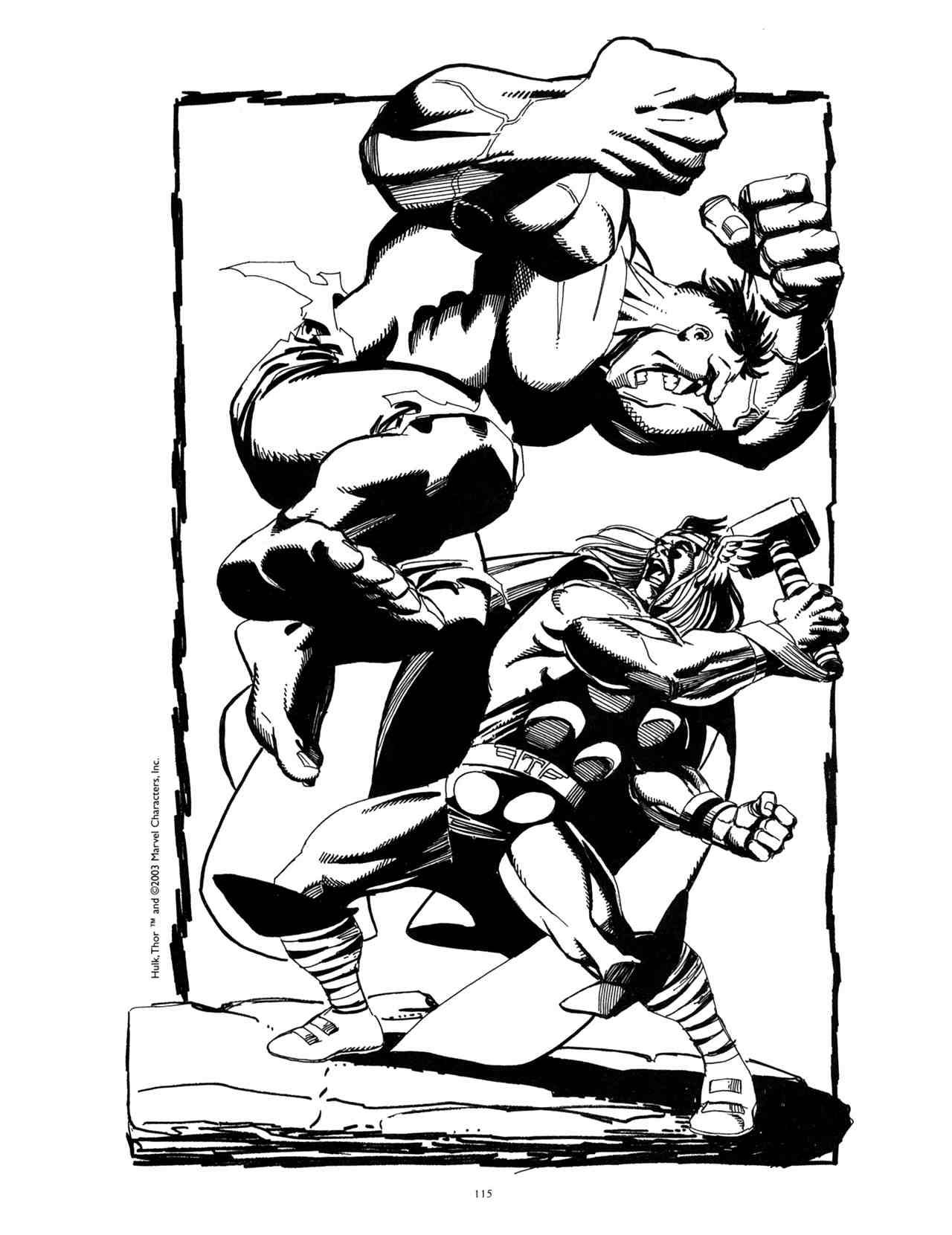 Hulk vs. Thor by George Perez, from Modern Masters vol. 2