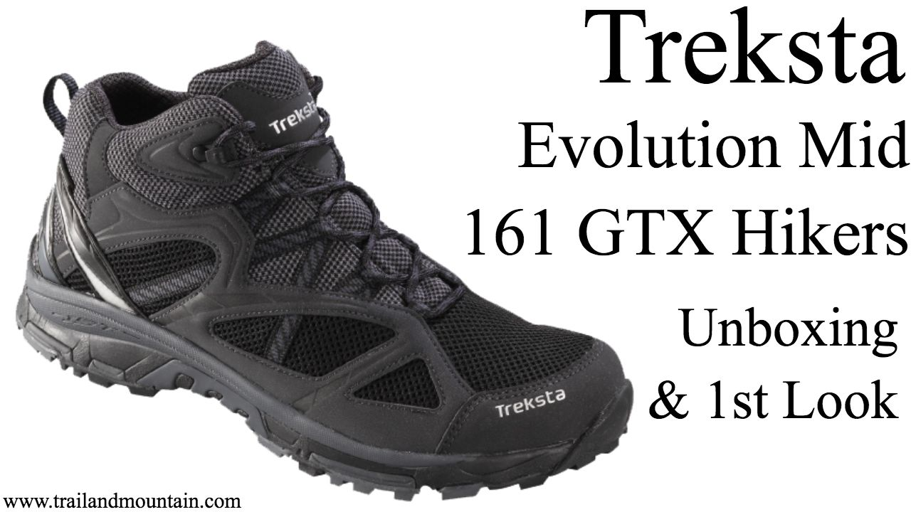 Treksta Evolution Mid 161 Gtx Trail Shoe Unboxing With