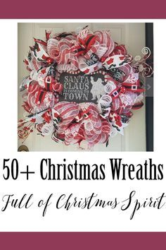 50+ Christmas Wreaths - Ring in the season with these beautiful Christmas wreaths! Farmhouse wreaths, cute wreaths and more! They're perfect for any front door! #farmhousestyle #christmas #christmasdecor #shopping #afflink #wreath #christmastime