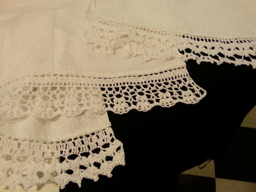 Bordes de toallas en crochet