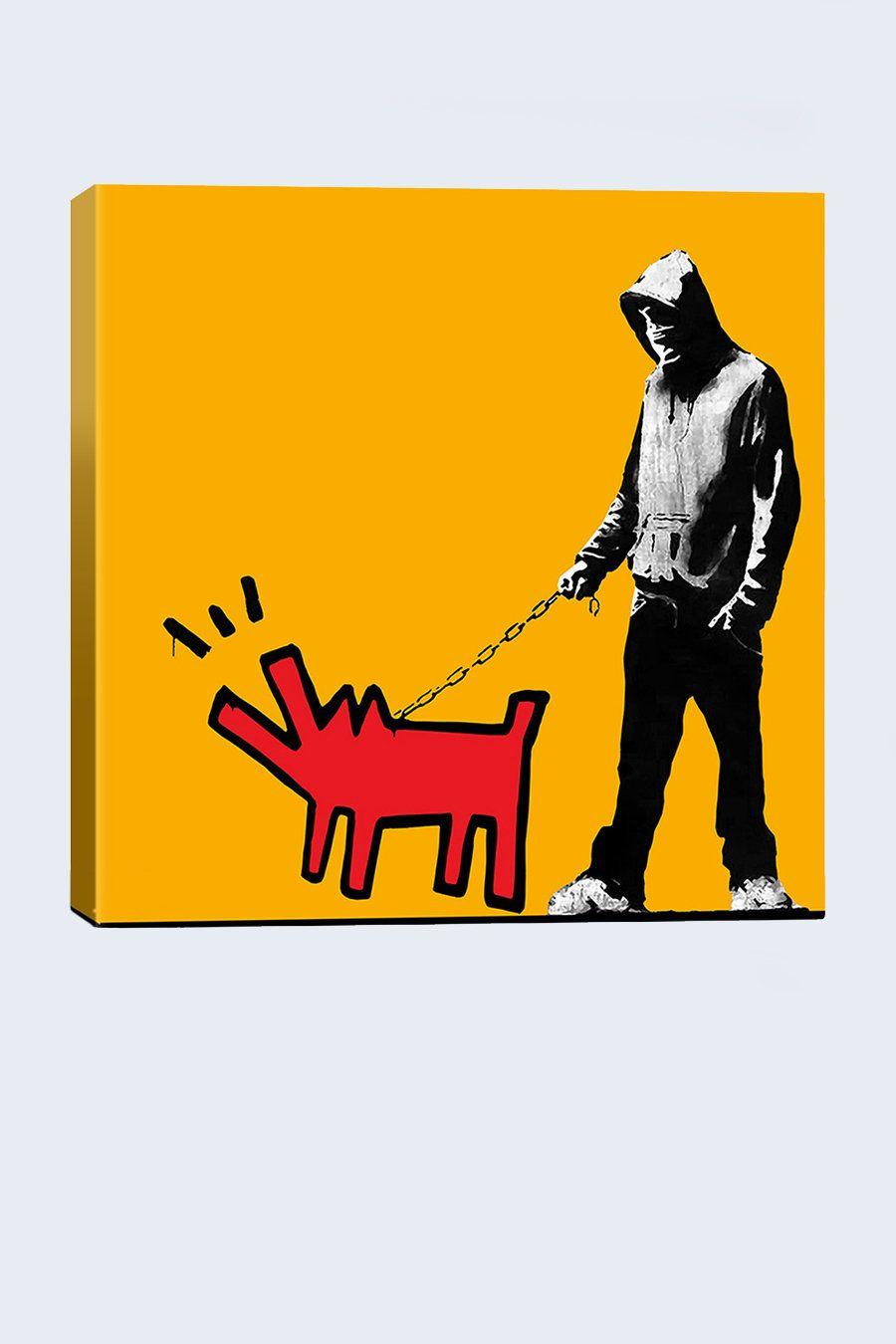 Banksy and Haring | Banksy | Pinterest | Banksy, Graffiti and Street art