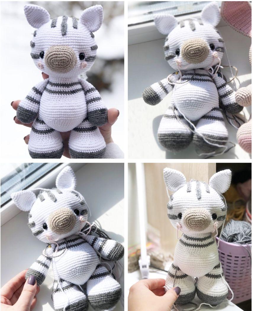 Amigurumi Pattern ZEBRA in ENGLISH, Crochet Pattern Toy Zebra, Crochet Amigurumi Pattern zebra