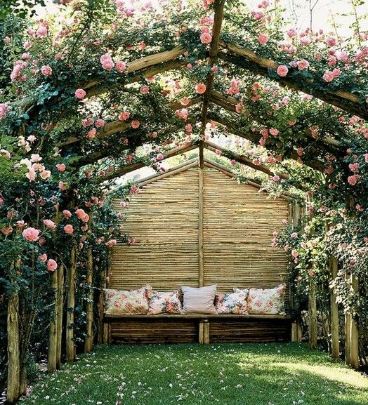 Rose arbor...heavenly scent of roses all around you!