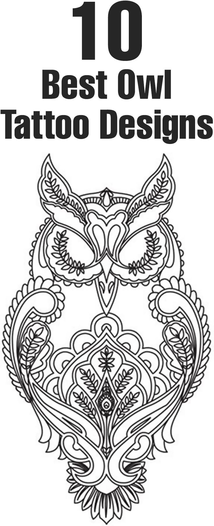 Best Owl Tattoo Designs Our Top 10 Owl Tattoo Design Owl Embroidery Owl Tattoo