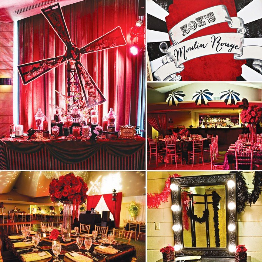 Fabulous Moulin Rouge Themed Party Quincea Era By One Stone Events