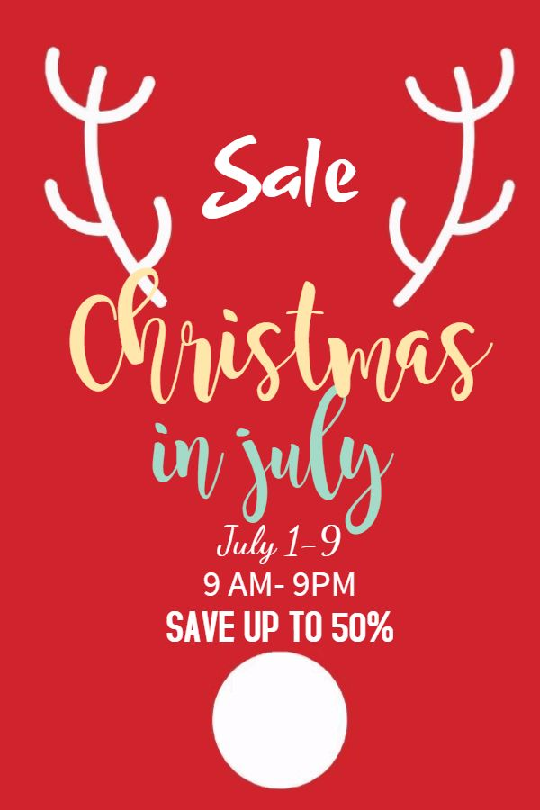 Christmas In July Sale Retail Poster Template Christmas In July Christmas In July Sale Poster Template